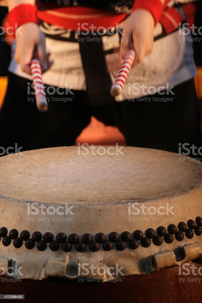 Japanese Taiko Drum stock photo
