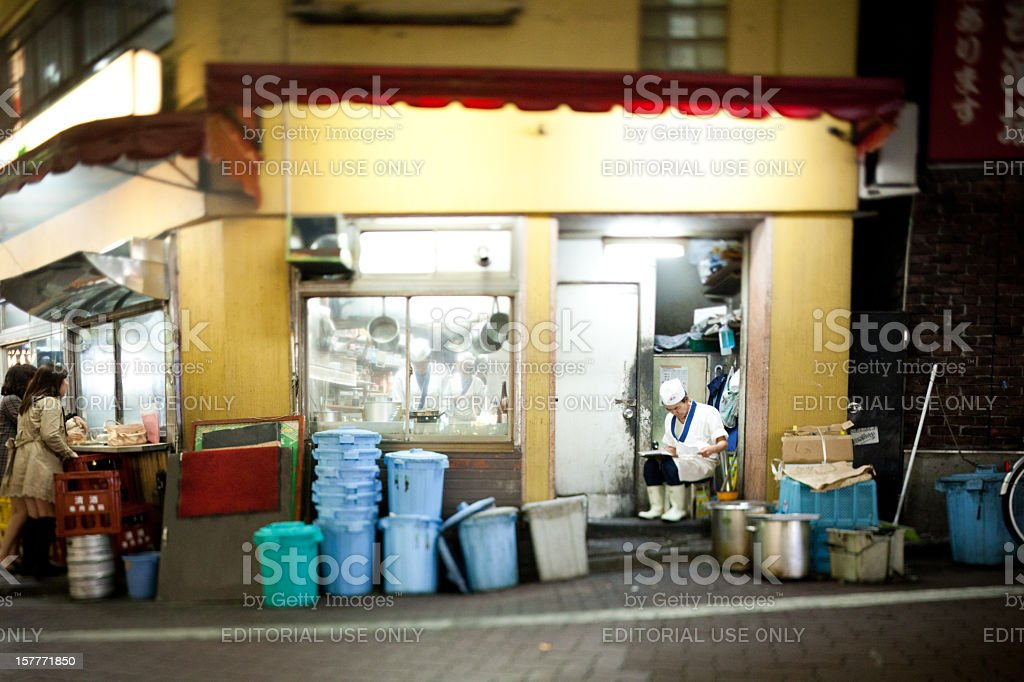 Japanese take out restaurant stock photo