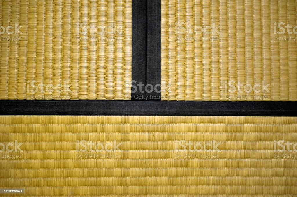 Japanese tatami mat stock photo