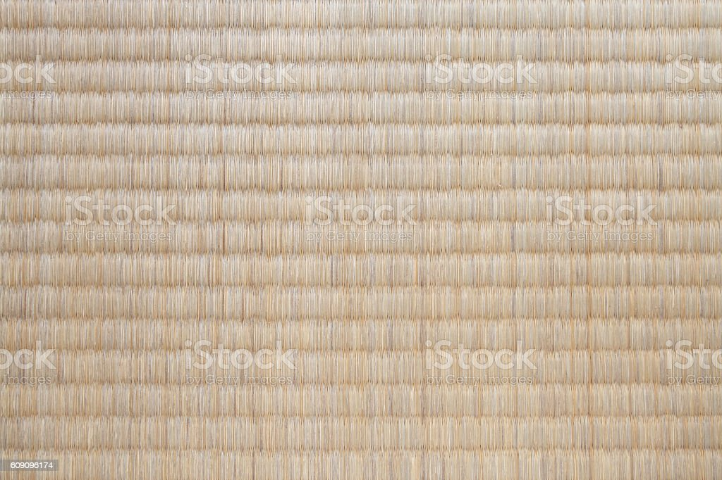 Japanese tatami mat texture and background seamless stock photo