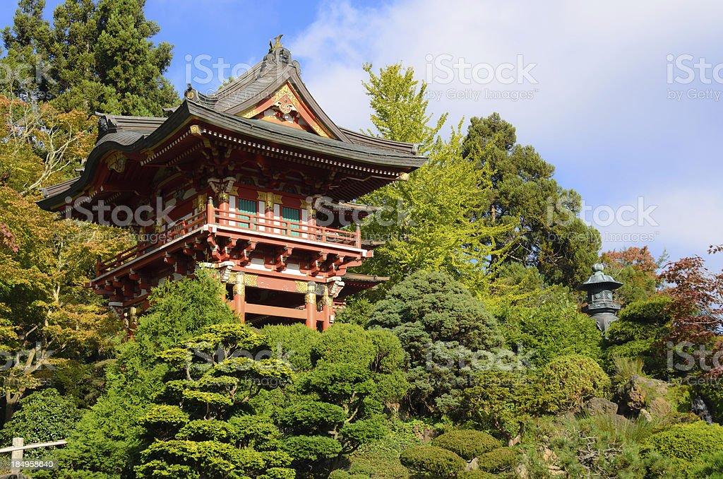 "Japanese Tea Garden at Golden Gate Park in San Francisco ""Japanese Tea Garden at Golden Gate Park in San Francisco, CA."" Building Exterior Stock Photo"