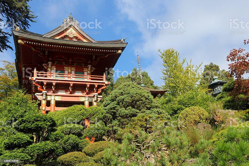 Japanese Tea Garden in San Francisco, California stock photo