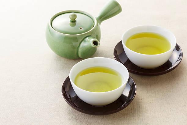 Japanese tea stock photo