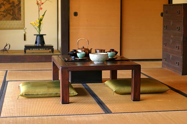 日本のティールーム - 畳 ストックフォトと画像