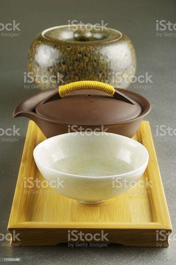 Japanese tea set - macro royalty-free stock photo