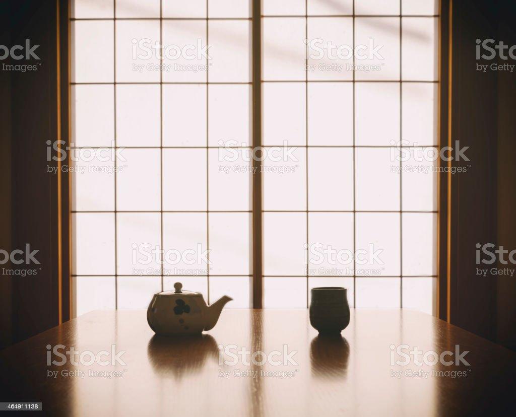 Japanese Tea Silhouette royalty-free stock photo