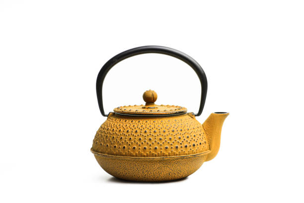A japanese teapot A yellow japanese teapot teapot stock pictures, royalty-free photos & images