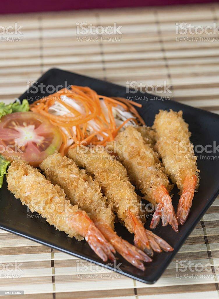 Japanese Tempura Shrimp stock photo