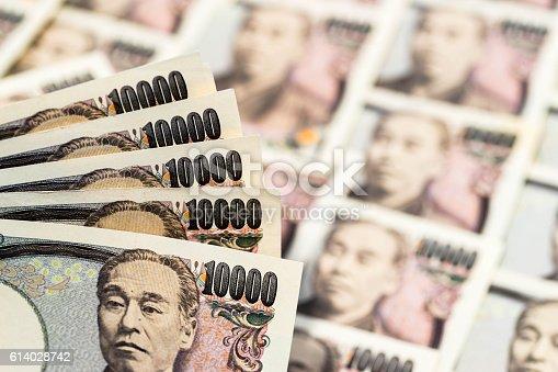 istock Japanese ten thousand yen banknote 614028742