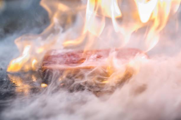 japanische teppanyaki - teppan yaki grill stock-fotos und bilder