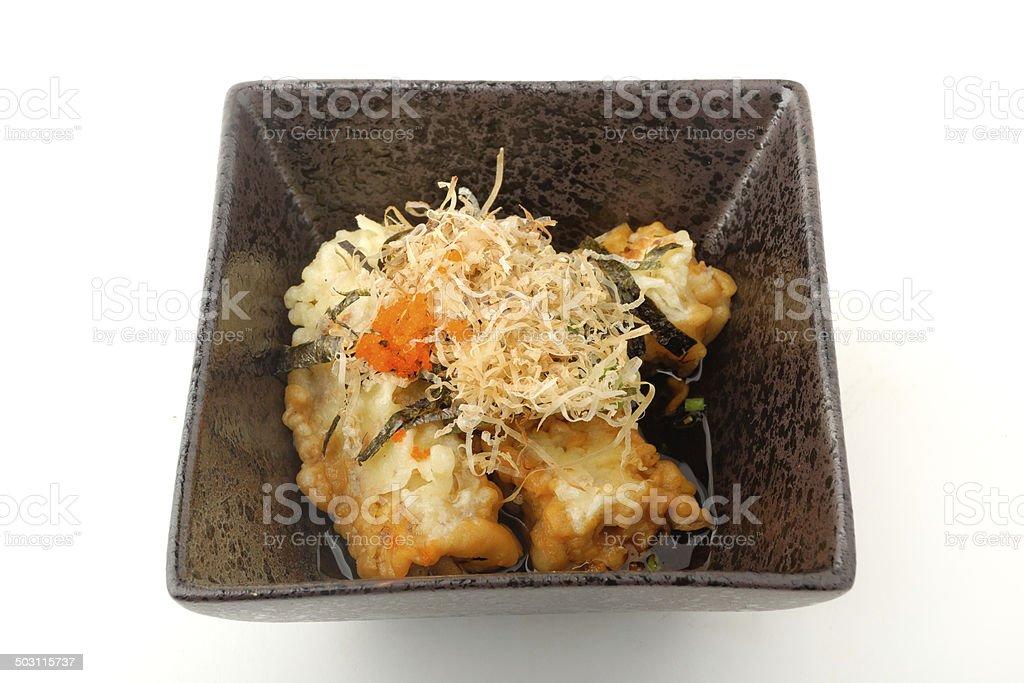 Japanese tofu in mirin sauce. stock photo
