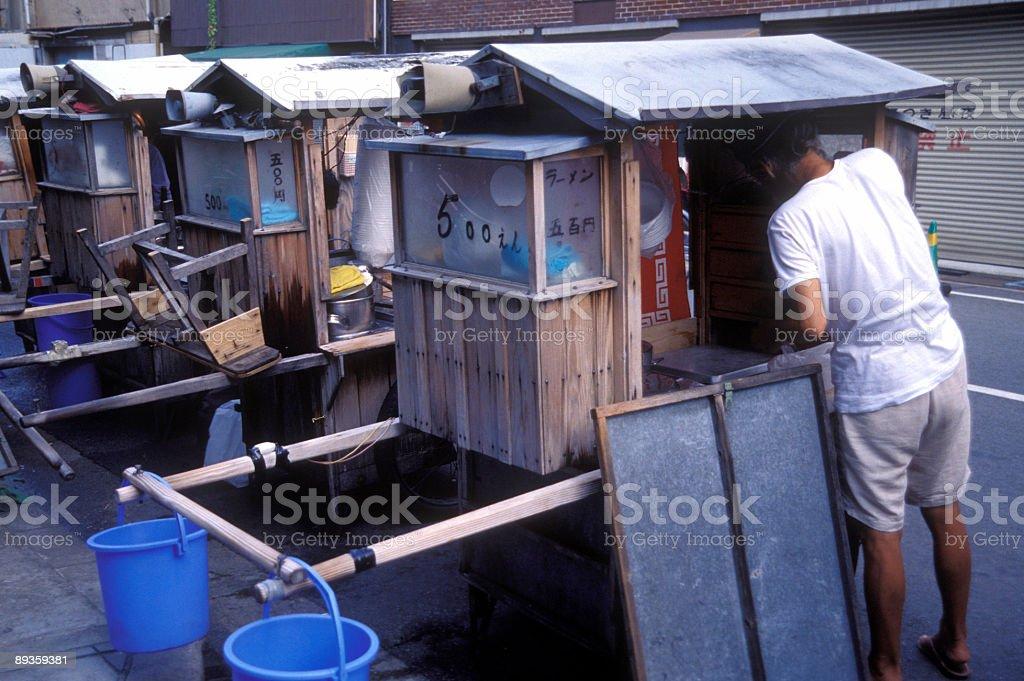 tofu venditore giapponese foto stock royalty-free