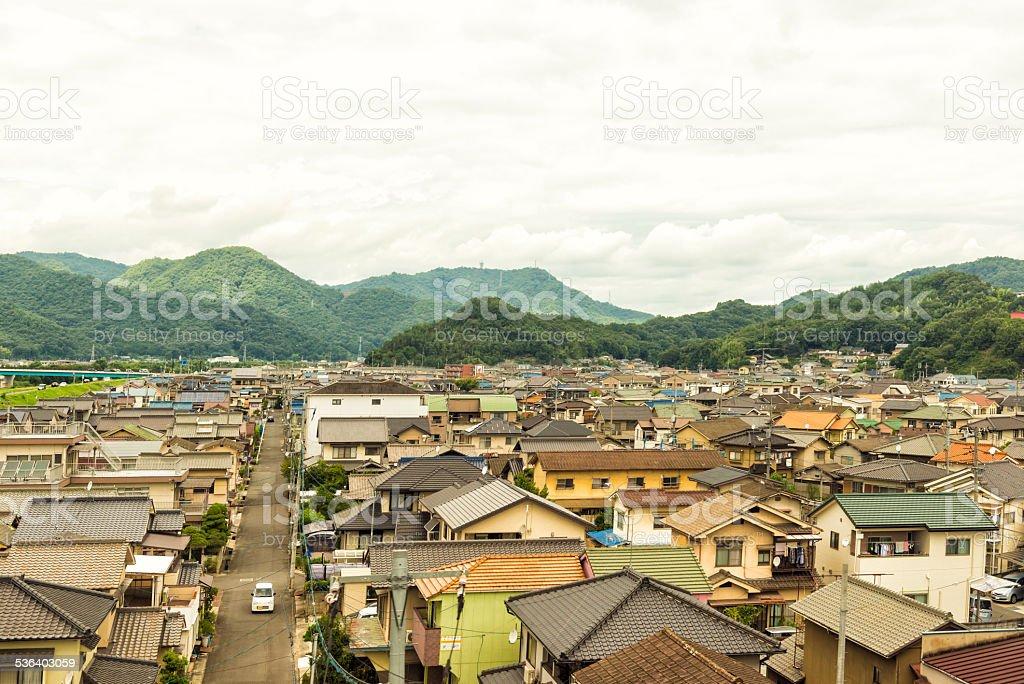 Japonés ciudad de Okayama - foto de stock