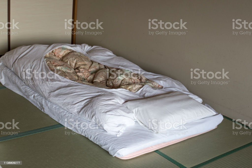 Japanese Traditional Bed On Tatami Mats In Japanese Traditional Hotel Stock Photo Download Image Now Istock