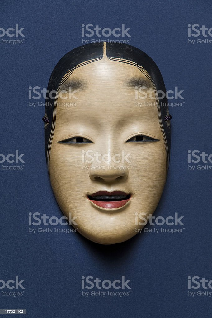 Japanese Traditional Face Mask stock photo