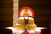 伝統的な和食料理、新年の「鏡餅 (餅)」