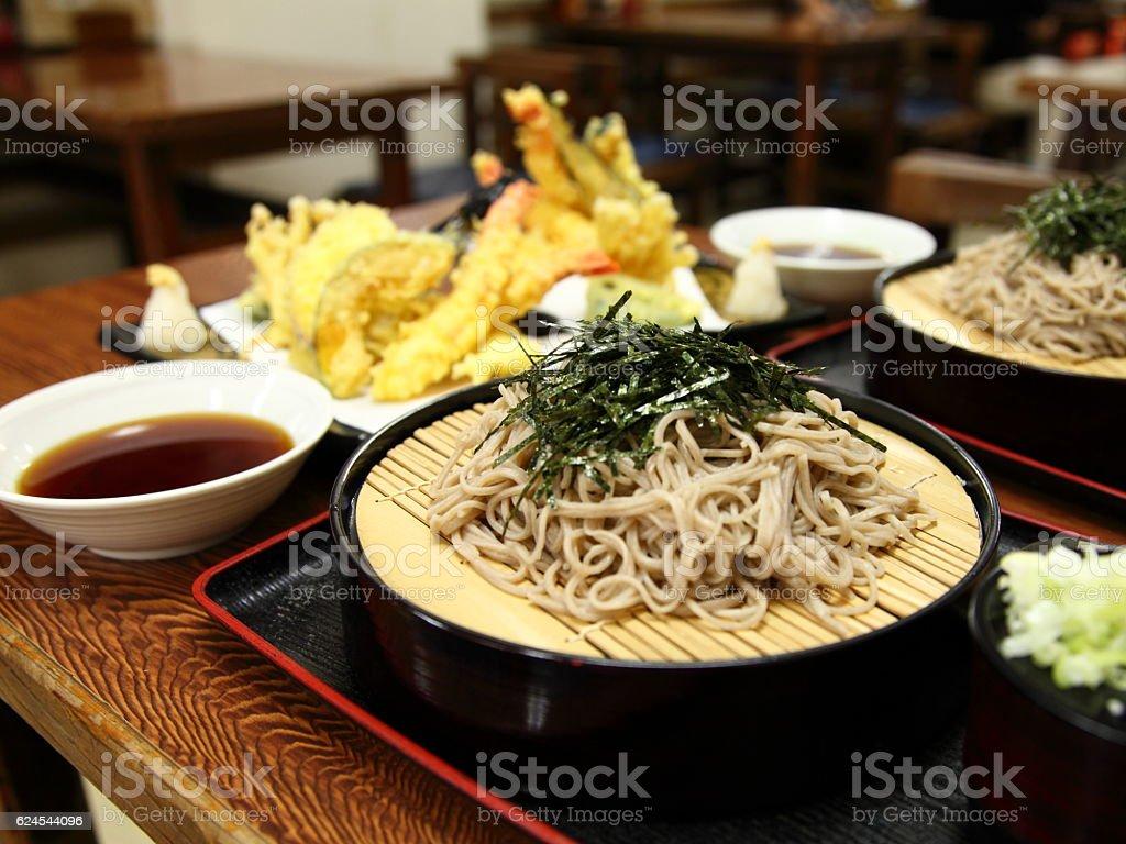 Japanese Traditional Food 'SOBA' with Tempura stock photo