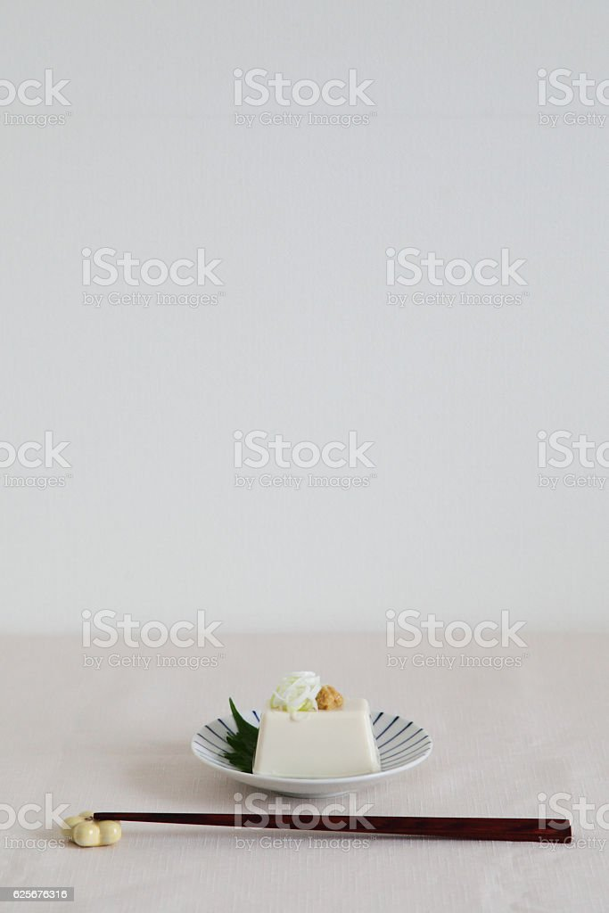Japanese Traditional Food - Soybean Curd 'TOFU' stock photo