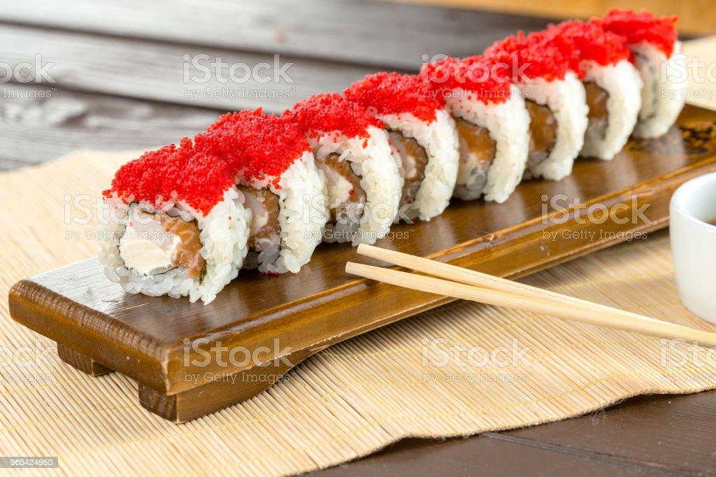 일본 전통 음식: 초밥 - 로열티 프리 0명 스톡 사진