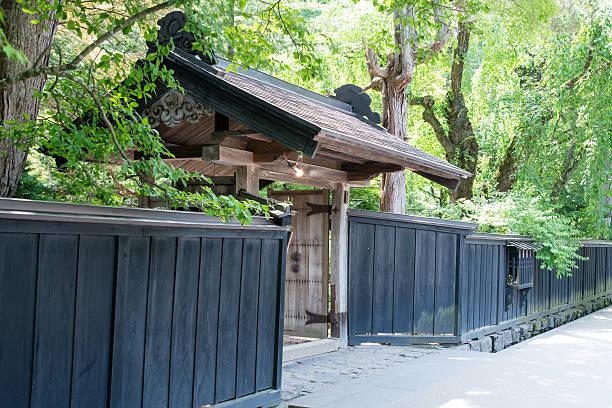 Japanese traditional gate (XXXLarge) stock photo