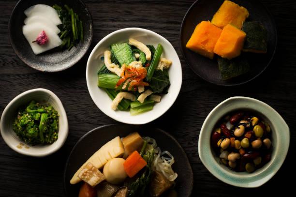 日本の伝統的な家庭料理 - 和食 ストックフォトと画像