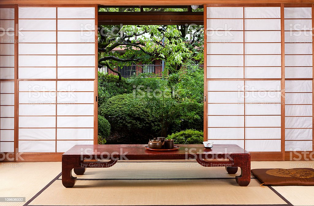 Japanese traditional house stock photo