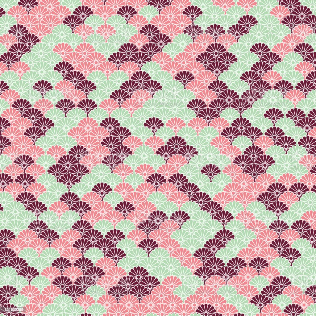 Japanese traditional pattern stock photo