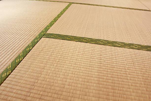 japanese traditional tatami mat texture - 畳 ストックフォトと画像