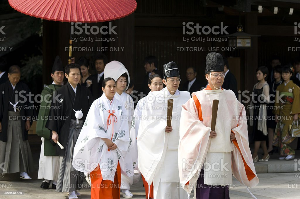 Japanese traditional wedding royalty-free stock photo