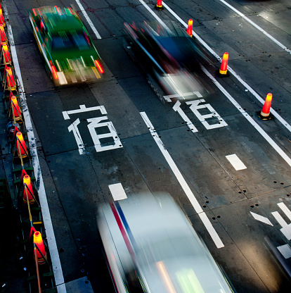 Japanese Traffic Motion Blurred Stock Photo - Download Image Now