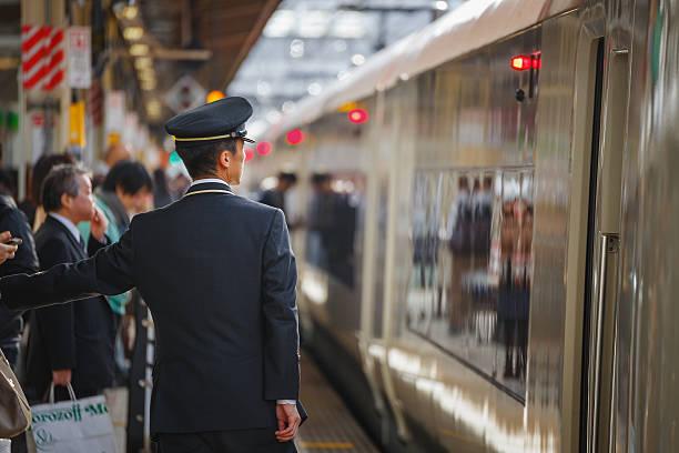 japoński konduktor - konduktor pociągu zdjęcia i obrazy z banku zdjęć