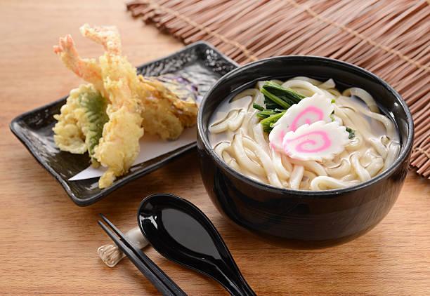macarrão udon japonês - tempura imagens e fotografias de stock