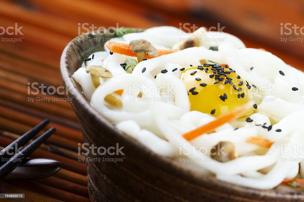 Japanese Udon Noodles with Egg royalty-free stock photo