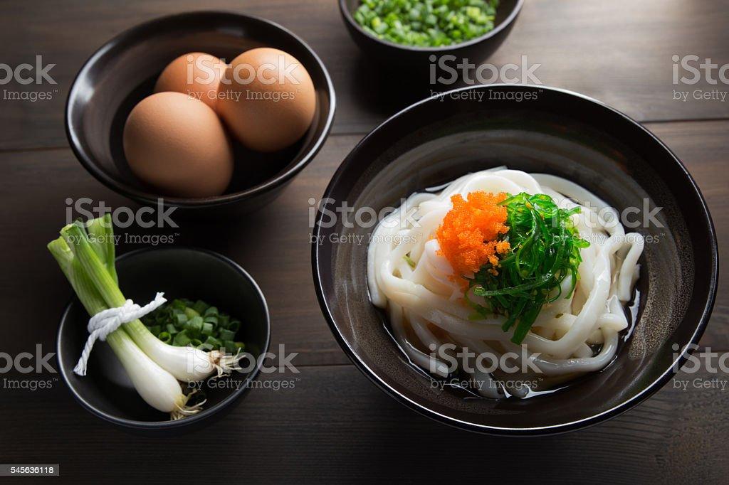Japanese udon stock photo