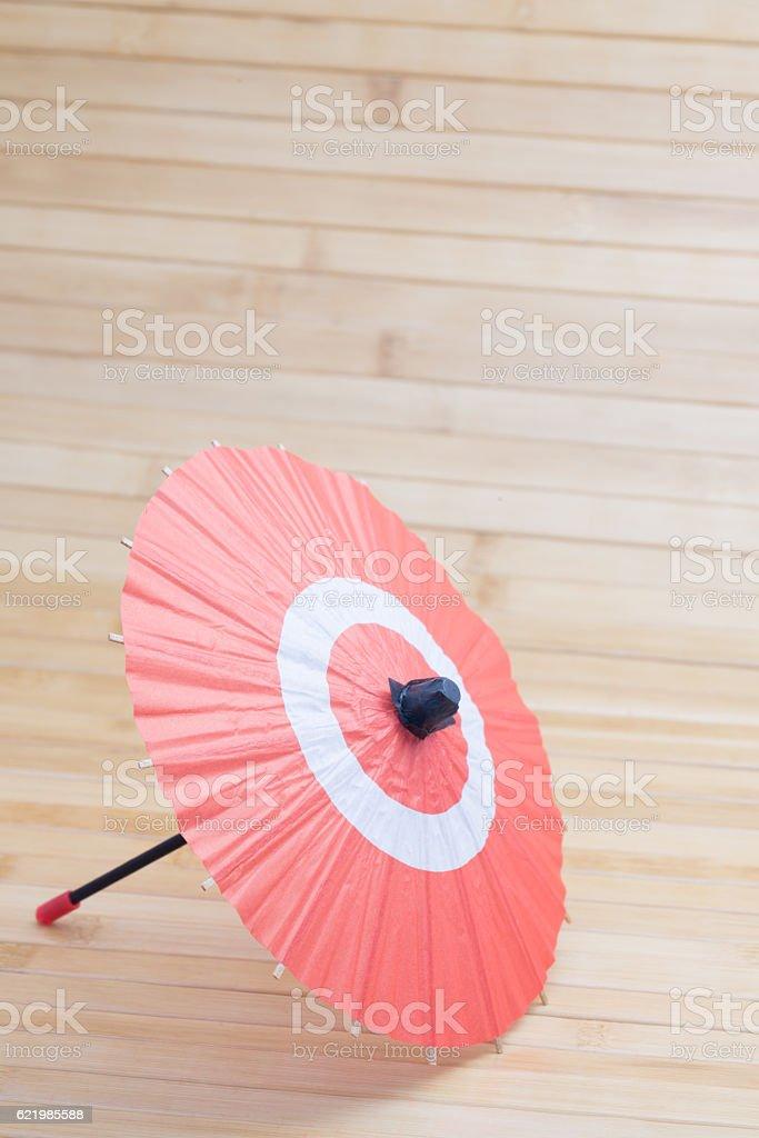 Japanese umbrella stock photo