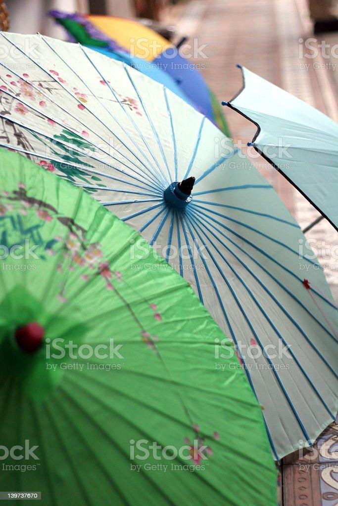 Japanese Umbrellas royalty-free stock photo