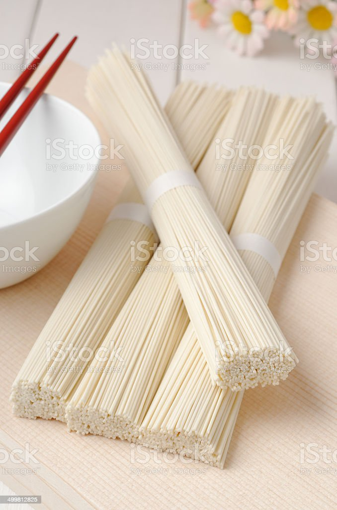 Japanese Uncooked Somen stock photo