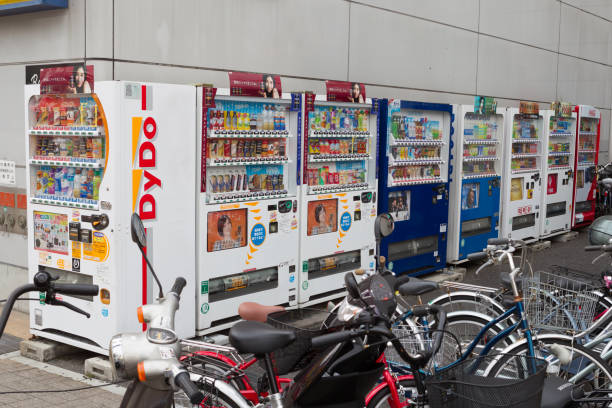 japanese vending machines - kit kat stock photos and pictures