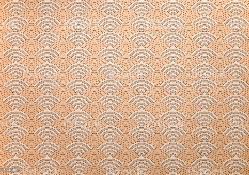 Japanese washi paper with concentric circular pattern stock photo