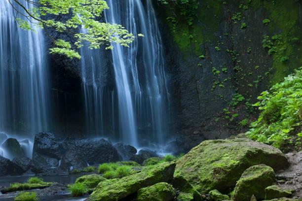 日本の滝風景 - 滝 ストックフォトと画像