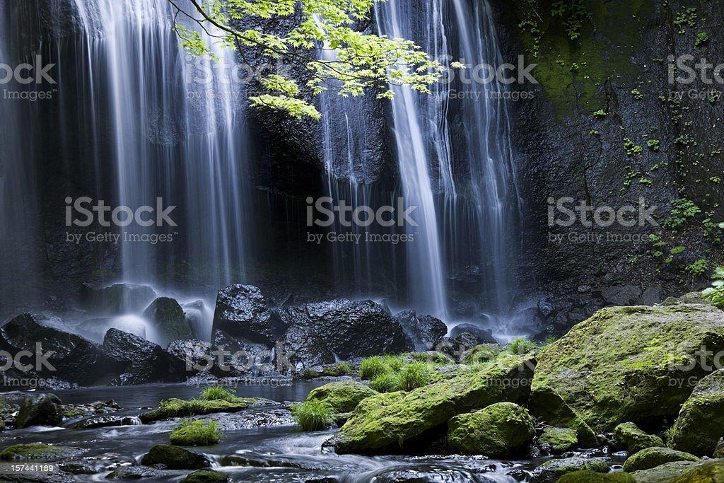 Japanese Waterfall  royalty-free stock photo