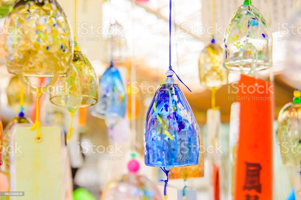 Japanese wind chime stock photo