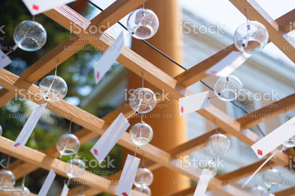 Japanese wind chimes , Summer feature of Japan stock photo
