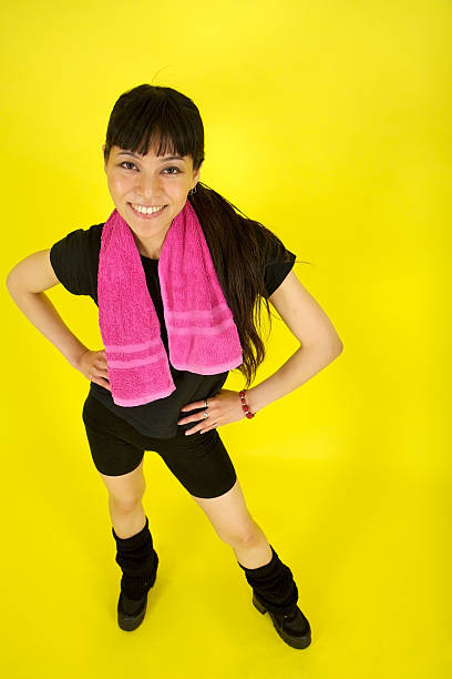 Japanese woman after a workout stock photo