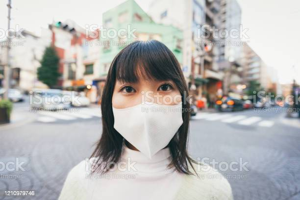 Japanese Woman Coronovirus Protection Tokyo Japan Stock Photo - Download Image Now