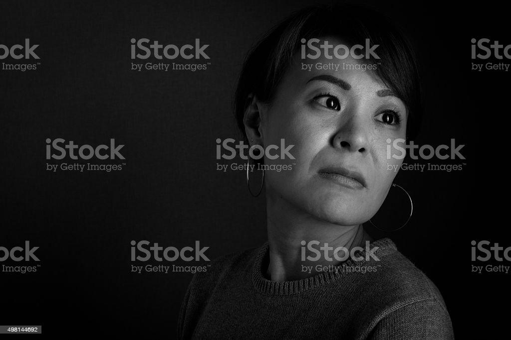 Japanese Woman Headshot bildbanksfoto