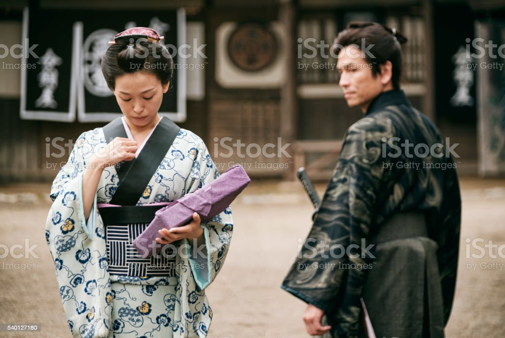 Japanese Woman In Edo Period Town Stock Photo  More -5480