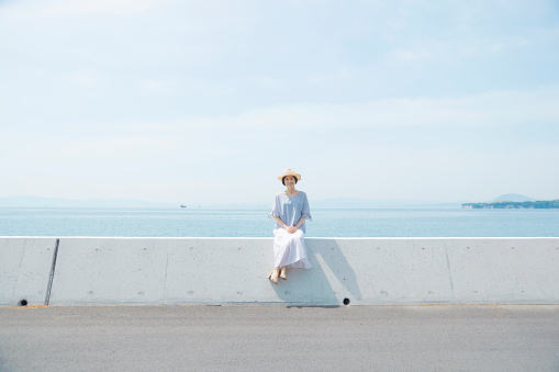 Japanese woman in the summer