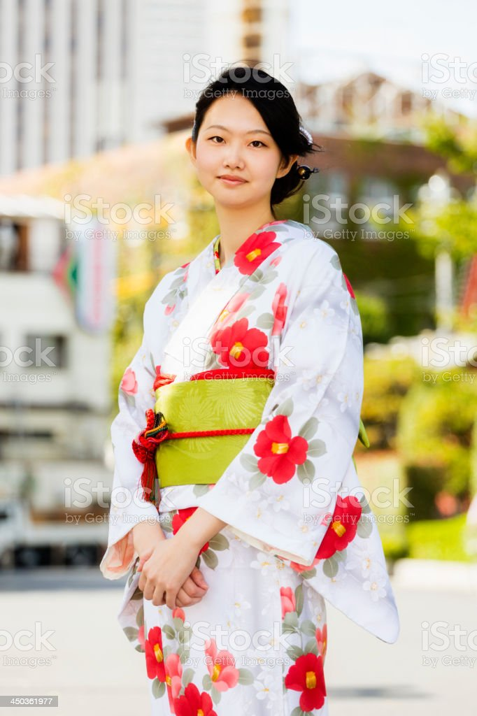 Japanese Woman in Tokyo royalty-free stock photo