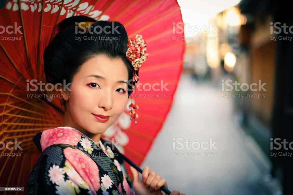 Japanese Woman stock photo
